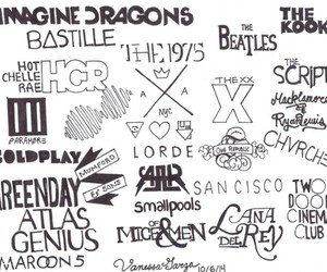 bands, music, and love image