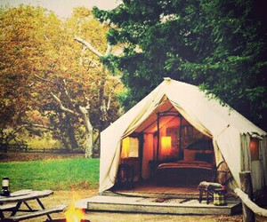 camping, tent, and fire image