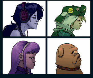 gorillaz and adventure time image
