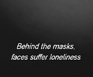 lonely, masks, and sad image