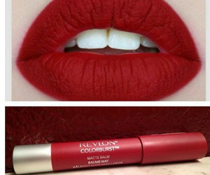 beauty, lips, and hot red image
