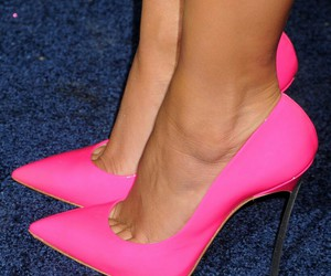 fuschia, high heels, and hot pink image