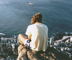 sea, city, and ocean image