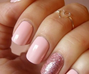 nails, sparkles, and pink image