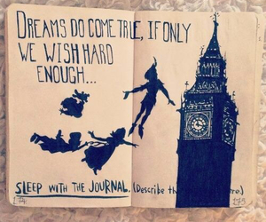 wreck this journal, peter pan, and Dream image