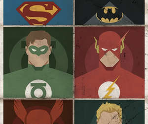 batman, superman, and flash image