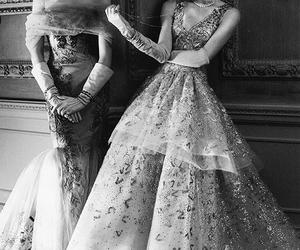 dress, model, and vintage image