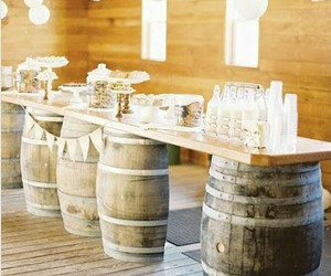 barrel, decoration, and rustic image
