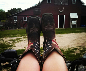 american, barn, and boots image