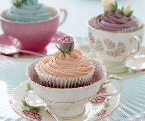 cupcake, cup, and food image