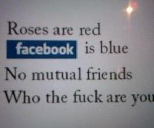 blue, facebook, and poetry image