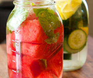 mint, watermelon, and water image