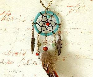 dream catcher, dreamcatcher, and necklace image