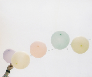 pastel and balloons image