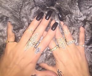 nails, rings, and khloe kardashian image