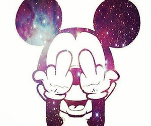 galaxy and mickey mouse image