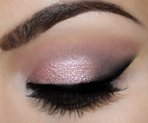 makeup, beautiful, and eyebrows image