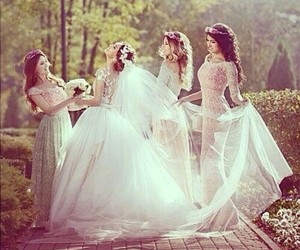 wedding, girl, and bride image
