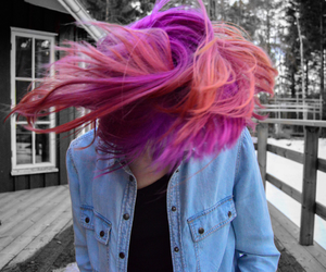 colors, girl, and pink image