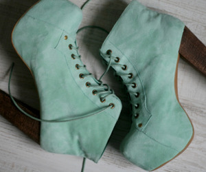 color, fashion, and jeffrey campbell image
