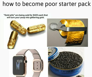 caviar, funny, and gold image