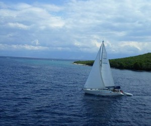 adriatic sea, sail boat, and summer image