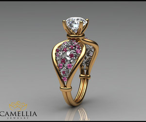 wedding rings, flower ring, and promise rings image