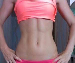 abs, girl, and sport image