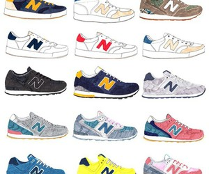 illustration, new balance, and shoes image