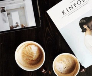 coffee, indie, and dark image
