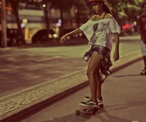 crazy, girl, and skateboard image