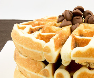 waffles, food, and chocolate image