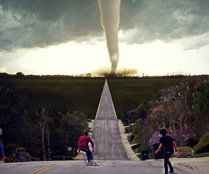 skate, boy, and tornado image