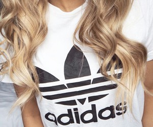 adidas, fashion, and blonde image