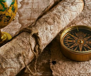 compass, maps, and ship image