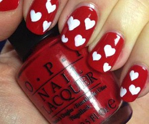nails, hearts, and red image
