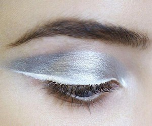 makeup, silver, and make up image