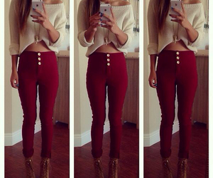 heels, outfits, and red image
