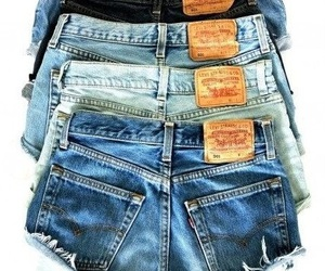 jeans, shorts, and summer image