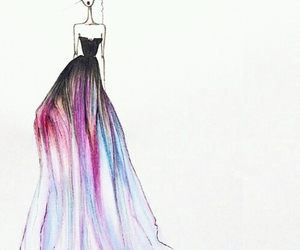 dress, fashion, and drawing image
