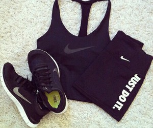crop, nike, and top image