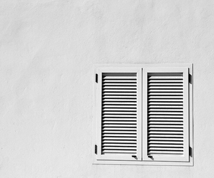 black and white, white, and window image