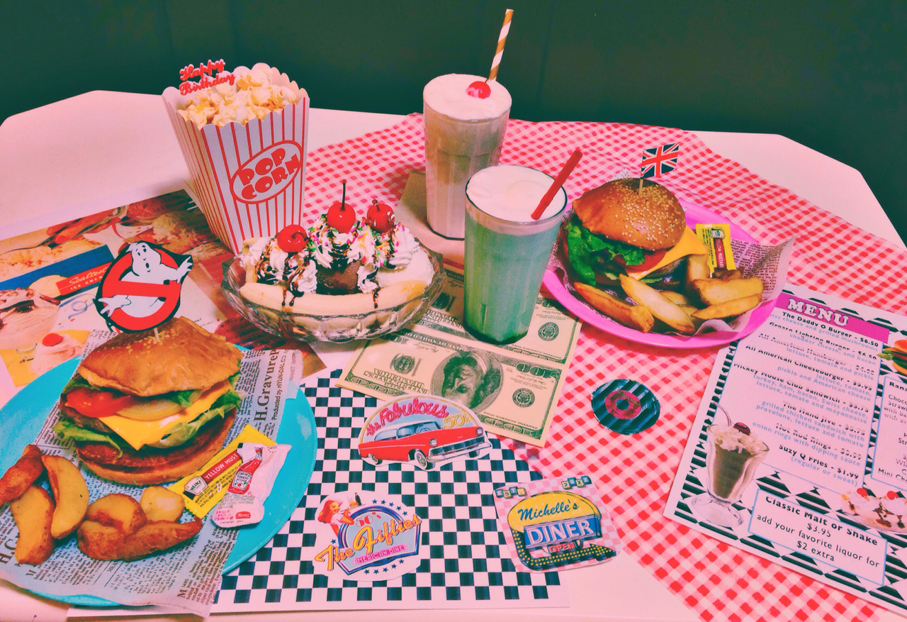 american, dinner, and party image