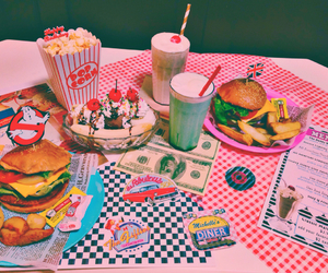 american, diner, and food image