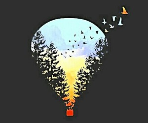 air balloon, black, and colour image