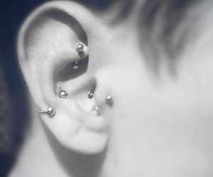 conch, piercing, and tragus image