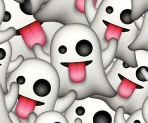 emoji, ghost, and wallpaper image