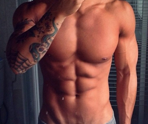 abs, body, and tattoo image