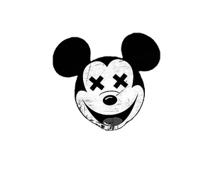 hipster, mickey, and mickey mouse image
