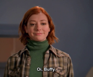 alyson hannigan, buffy, and willow image